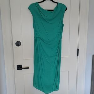 Reiss green fitted dress with feature back panel